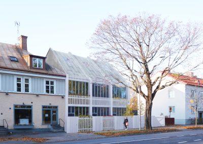 Om- och tillbyggnad till flerbostadshus i Enskede
